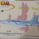 1/32 F/A-18C HORNET VFA-22 FIGHTING REDCOCKS CAM DECALS NEW