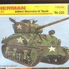 1/35 M4 A1 SHERMAN STANDARD TANK ITALERI NEW
