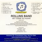 Rollins Band Get Some Go Again Promo Advanced CD