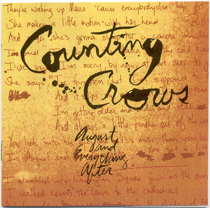 Counting Crows August & Everything After CD