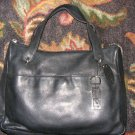 VTG 90s ROLFS Black Leather Purse Medium Classic Handbag Satchel Top Zip HandBag