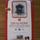 GE DVI Male to HDMI Female Adapter *Opened but NEW*