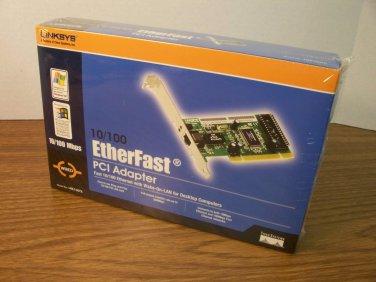 Linksys 10/100 Etherfast PCI Adapter w/Wake-On-LAN (LNE100TX) *NIB*