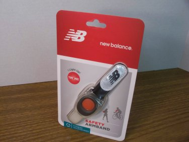 NB New Balance Safety Armband Lights Up Red (52016NB) *NEW*