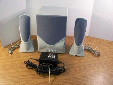 Kenwood Sound Retrieval System Computer Subwoofer w/2 Speakers *USED*