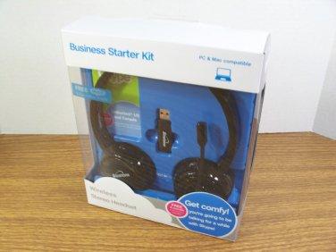 Binatone Business Starter Kit Black Wireless Stereo Headset (TALK-5193) *NIB*