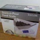 Taylor Store-N-Pour Food Scale 11lb. Capacity (1077) *NIB*