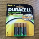 Duracell 4x- AAA Rechargeable Stay Charged NiMH Batteries CAT#DX2400 800mAh *NEW