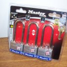 "Master Lock 3-Pack 2-1/2"" Padlocks (1TRILJ) *NEW*"