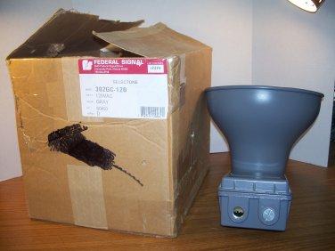 Federal Signal Selectone Gray 120Volt Loudspeaker Horn (302GC-120) *NIB*