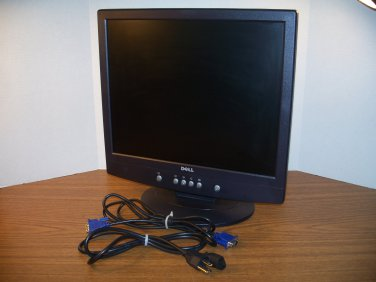 "Dell 17"" Midnight Gray 1280 X 1024 VGA LCD Flatscreen Monitor (E171FPb) *USED*"