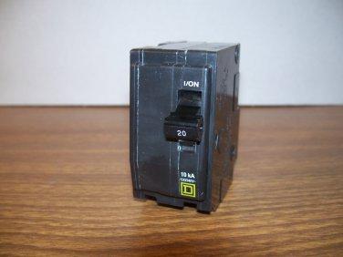 Square D QO Circuit Breaker (QO220) 20Amp 240Volt 2Pole 10kA *NOB*