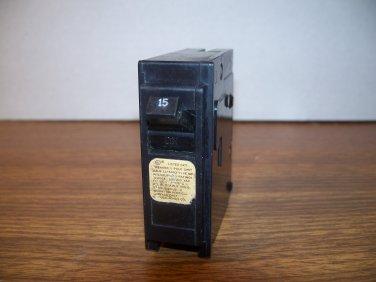 Crouse-Hinds MP Circuit Breaker (MP115) 15Amp 240Volt 1Pole 10kA *USED*