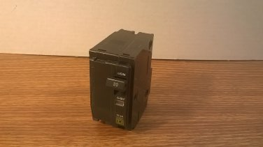 Square D QO Circuit Breaker (QO220) 20Amp 240Volt 2Pole 10kA *USED*