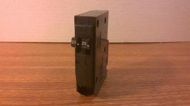 Square D QOT Tandem Circuit Breaker (QOT2020) 20Amp 240Volt 2Pole 10kA *USED*