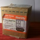 "Steel City Box of 10 1-Gang 4"" Square 1/2"" Raised Metal Covers GFCI & Duplex (RS19-10R) *NIB*"
