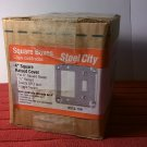 "Steel City Box of 10 1-Gang 4"" Square 1/2"" Raised Metal Covers GFCI & Toggle Switch (RS18-10R) *NIB*"