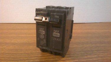 GE THQL Circuit Breaker (THHQL21100) 100Amp 240Volt 2Pole 22kA *NOB*