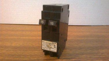 Siemens QT Tandem Circuit Breaker (Q1515) 15Amp 240Volt 2Pole 10kA *NOB*