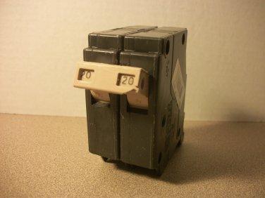 Cutler-Hammer CH Circuit Breaker (CH220) 20Amp 240Volt 2Pole 10kA *USED*