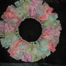 "Pastel Rag 12"" Wreath"