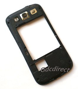 Black Sprint Samsung Galaxy S 3 III L710 Chassis Rear Housing w/ Speaker+Lens