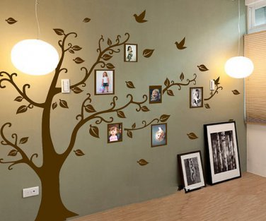Photo Tree Wall Decal - Family Tree Wall Stickers - Photo frame tree vinyl