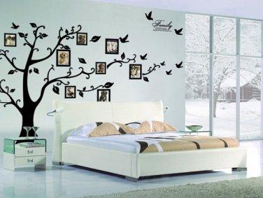 Family Tree Wall decal - Photo frame tree vinyl-Removable Vinyl Decal Family Photo Frame Tree
