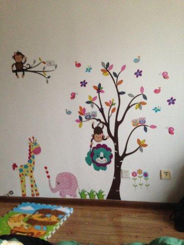 Trees and animals Nursery room Wall Decal -Kid Trees Wall Vinyl
