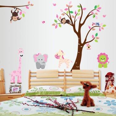 Nursery monkey wall stickers-bed room background  wall stickers-bed room  background wall vinyl
