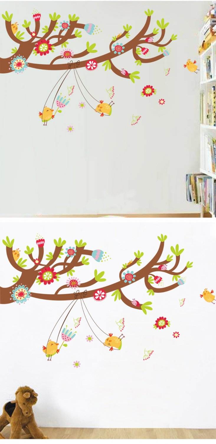 Nursery room owl wall stickers-owl kid bed room background  wall stickers