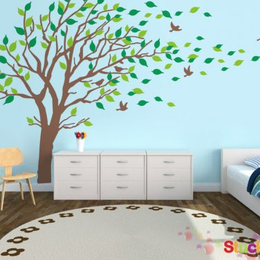 Thin Bird Tree Wall Decals Sticker Set $65.00
