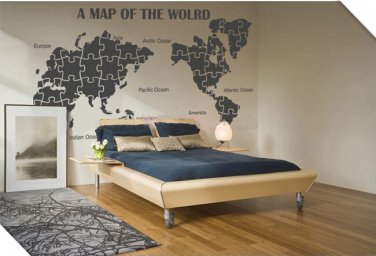 World Map decal home office decor