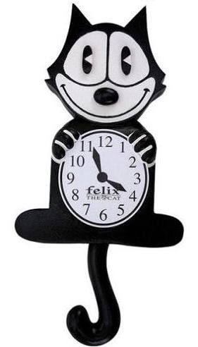 Brand New Felix Animated Pendulum Cat Clock