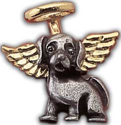 Pewter Guardian Angel of Dogs Pin