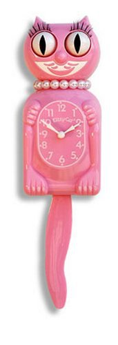 Kit Kat/Cat Pink Miss Kitty Kat Clock  Limited Edition Made in USA New in Box