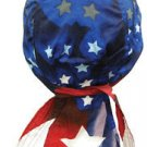 Star Spangled DELUXE Headwrap, Doo Rag, Bandana 100% Cotton Terry Cloth Headband