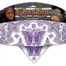 Biker Chop Top Purple Butterfly w/Rhinestons Doo Rag, Head Scarf, Wrap, Headband