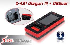 100% Original X431 DIAGUN III with Bluetooth Update Online