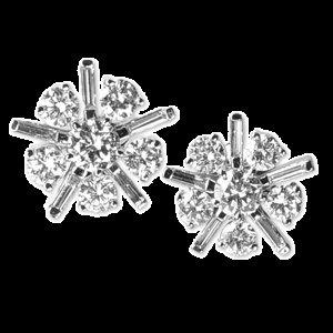 18K Diamond Earrings 2.08ct