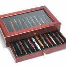 Rosewood 24 Pen Display Case