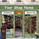 Web Site or Auction Template Antique Shop Boutique Navigational Header Logo & Custom Links