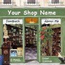 Web Site or Auction Template Antique Shop Boutique Navigational Header Logo & Custom Links