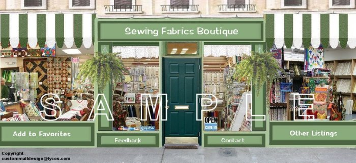 Fabric Boutique Shop Auction Template Web Site Header Logo Boutique With Your Custom Links