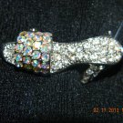 Rhinestone High Heel Shoe Pin