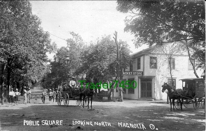 Rare Early Magnolia OH Street Scene c1910