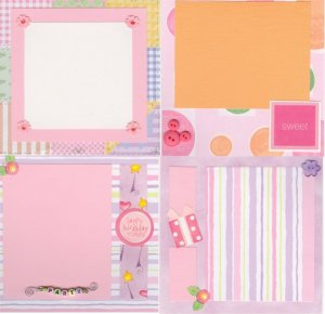 Custom Made 6x6 Scrapbook Album with 20 Pages