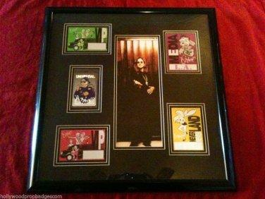 Ozzy Osbourne Custom Framed Original Ozzfest ALL 1999 LA Passes