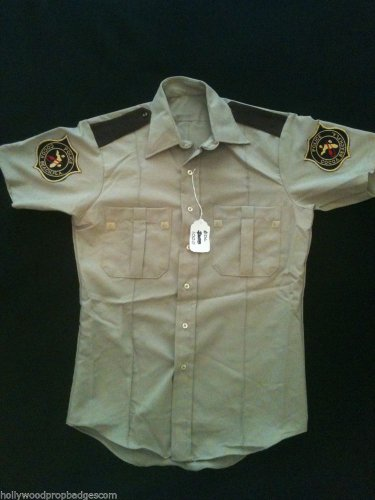 I Dream Of Jeannie HERO Henry BeckmaN Cocoa Beach Police Uniform Shirt� W/LOA