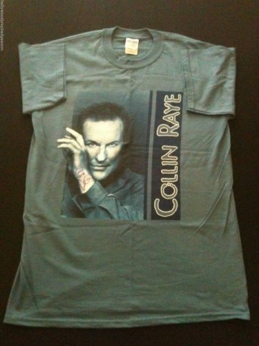 Collin Raye 2002 HAND SIGNED Concert t-shirt Size Medium